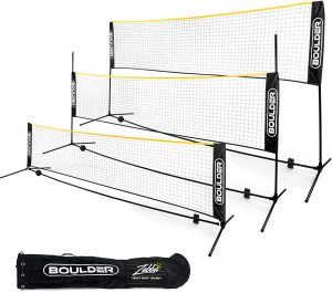 Boulder Portable Badminton Net Set. for Tennis